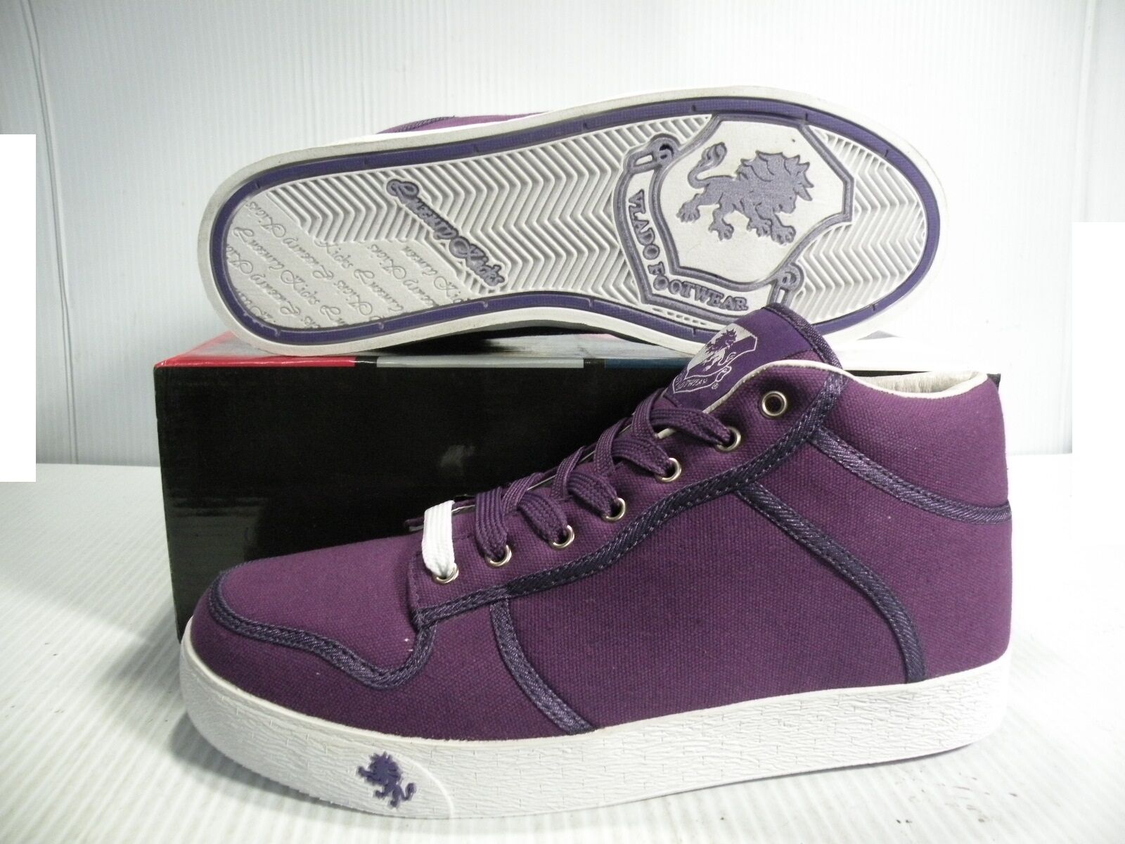 VLADO SPECTRO MID SNEAKERS Uomo SHOES PURPLE 1G-1060-8 SIZE 9.5 9.5 9.5 NEW 48cc8d