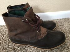 Sorel Kaufman Canada Brown Snow Winter Boot lace Up Men's size 11 Felt Lined