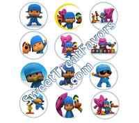 Pocoyo Party Supplies Pocoyó 12 Pins Buttons Favors Decoration Birthday Treats