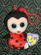 "Ty Beanie Boo 3"" clip BUGSY (Ladybug) MWMT purple * FELT NOSE * RARE * Retired"