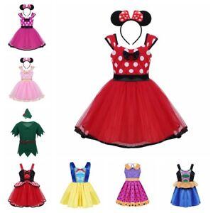 1-10Yrs Princess Girls Fancy Dress Up Party Kid Dance Costume ... 82ebc0308353