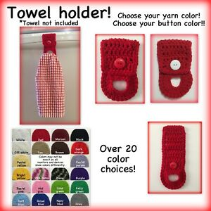 Kitchen Towel Holder Kitchen Towel Hanger Crochet Towel Holder