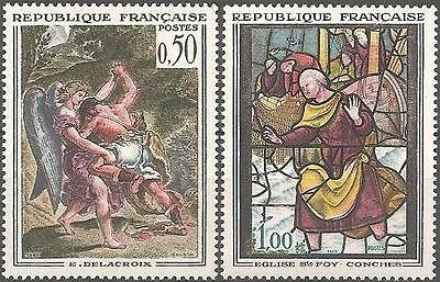 N° 1376 + 1377 - 2 TIMBRES NEUFS** de France // 1963