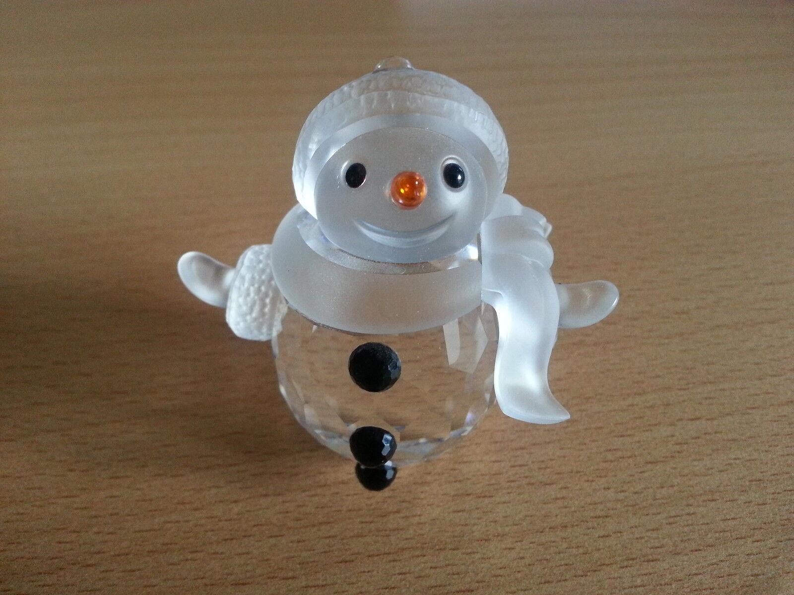 Swarovski Kristall Figur Schneemann mit Schal Snowman