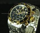 NEW Invicta Mens 18K Gold Plated Stainless Steel Chronograph Scuba Watch !!