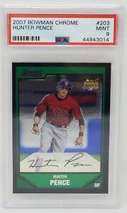 2007-Bowman-Chrome-Astros-Giants-HUNTER-PENCE-Rookie-Baseball-Card-PSA-9-MINT