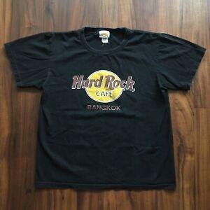 VTG-90s-Hard-Rock-Cafe-T-Shirt-Mens-Large-Bangkok-Official-Logo-Black-Streetwear