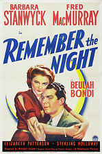 Remember the Night - 1940 - Barbara Stanwyck Fred MacMurray Mitchell Leisen DVD