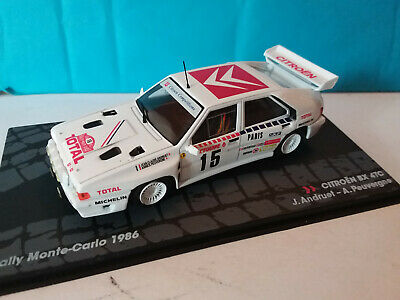 MZ6 Andruet Rally Model Car IXO 1:43 CITROEN BX 4TC Monte Carlo 1986 J