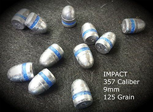 Details about  357 Caliber 9mm 125 Grain Round Nose Air Rifle Hard Hitting  Pellets - 100 Pcs