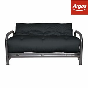 Argos Home Mexico 2 Seater Futon Sofa Bed   Black | eBay