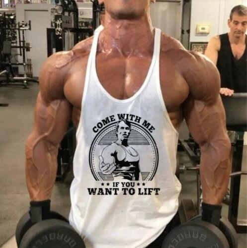 muscleguys Gym-Golds style//Arnold Logo Débardeur Men/'s Fitness Blanc Neuf Royaume-Uni M