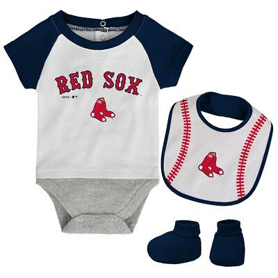 Boston Red Sox Baby Infant Gift Set of 3 Bodysuits 18 Months or 24 Months