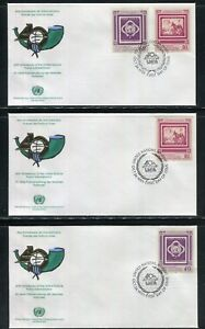 UN-New York #597-598, 1991 UNPA - 40th Anniversary, OUNPA FDC No Address