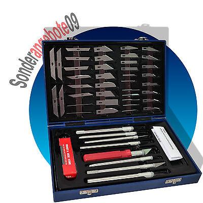 49 tlg Profi Skalpell Set Präzisionsmesser Cutter Messer Satz Modellbau Airbrush