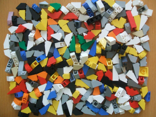 1x2 and 1x3 Size Multi Colours Angled brick Lego 100 Roof Tiles Sloping