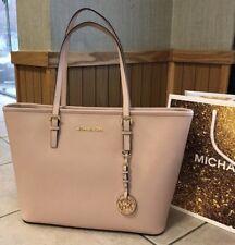$278 Michael Kors Jet Set Travel Handbag Purse MK Plush Saffiano Leather Bag