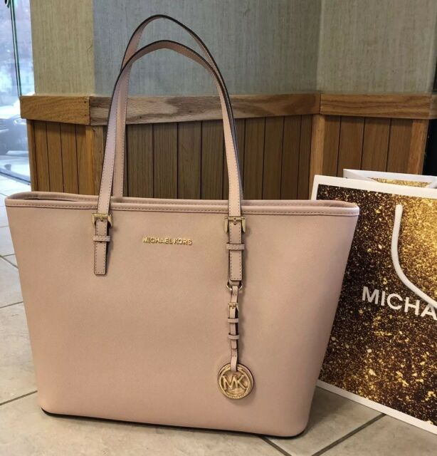 38603c88bdd20 New  278 Michael Kors Jet Set Travel Handbag Purse MK Plush Saffiano Leather  Bag