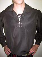 Brown Jacobite Ghillie Kilt Shirt Small, Med, Large, Xl, 2xl, 3xl, 4xl