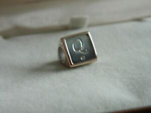 Clogau-Sterling-Silver-amp-9ct-Rose-Gold-Letter-Q-Bead-Charm-RRP-109-00