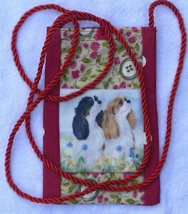 CAVALIER-KING-CHARLES-2-DOGS-DESIGN-FABRIC-PHONE-GLASSES-FACE-MASK-POUCH