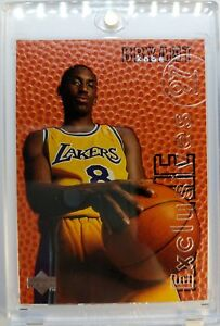 1996-96-UPPER-DECK-ROOKIE-EXCLUSIVES-Kobe-Bryant-R10-Rare-RC-Insert-LAKERS