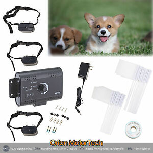 Electric-Waterproof-Dog-Fence-System-2-Shock-Collars-for-two-Dogs