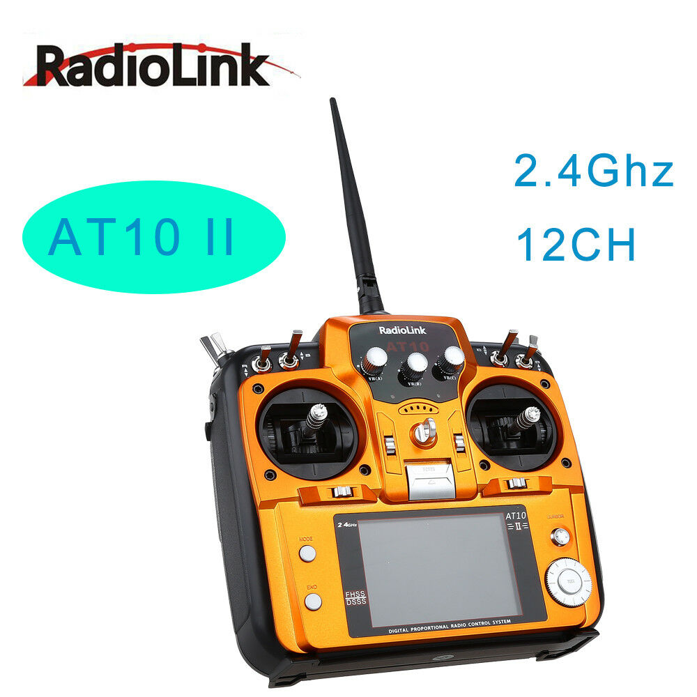RadioLink AT10 II 2.4Ghz 12CH RC Remote Control w/R12DS Receiver for Multicopter