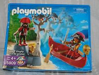 In The Box Playmobil 5809 Pirates' Dinghy Retired Playset 2006 Set