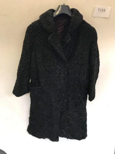 aisselle en Manteau dames Length vintage f135 fourrure noire 41 aisselle de 22 qZ0wxA4w7