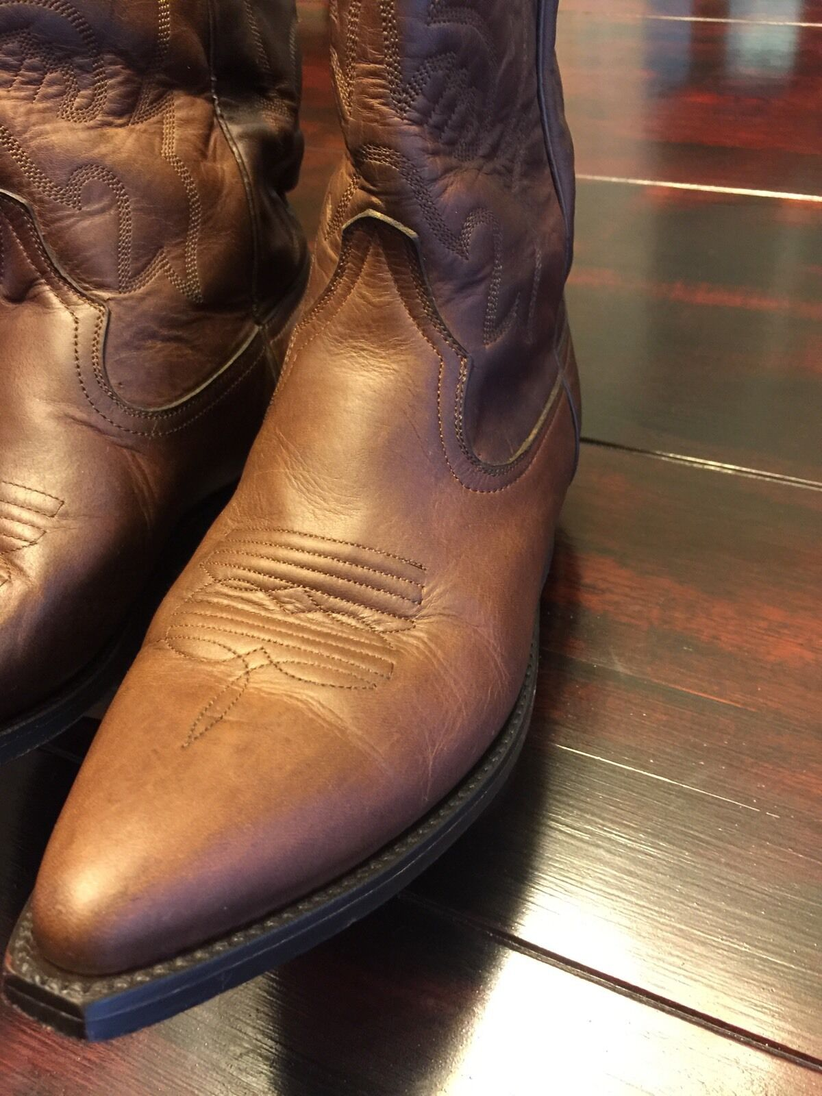 Pistolero Men's Brown Cowboy Boots Excellent Condition Size 6.5 M EUC