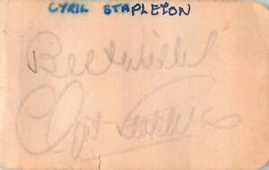 Vintage Signed Autograph Cut - English Violinist - Cyril Stapleton