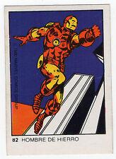 1980 Spanish Marvel Comics Superhero Terrabusi Trade Card  - #82 - Iron Man