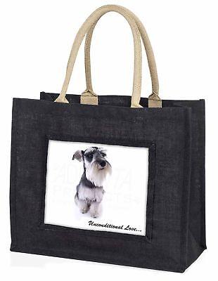 Schnauzer Hund Liebe große schwarze Einkaufstasche Weihnachten Geschenkidee,