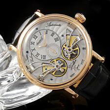 Ingersoll GOLDEN EYES IN1711RGY Leather Strap Band Grey Dial Watch