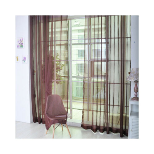 Pure Color Window Tulle Curtain Sheer Scarf Valances For Bedroom Living Room
