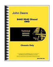 John Deere 8440 8640 Diesel 4wd Tractor Chassis Service Repair Manual Tm1199