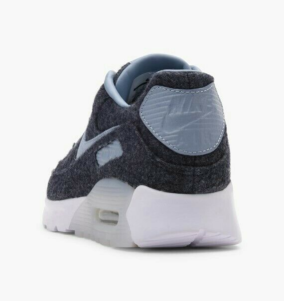 Details about Nike Air Max 90 Ultra Premium Leather Wool Blue White Uk Size 4.5 859522 400