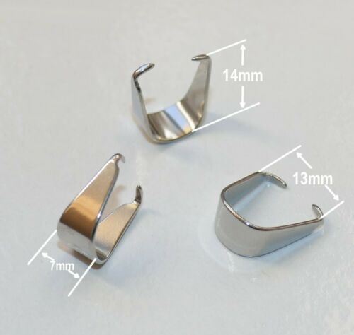 10x Large Stainless Steel Pinch Clip Pendant Bails for Jewelry Making Connectors
