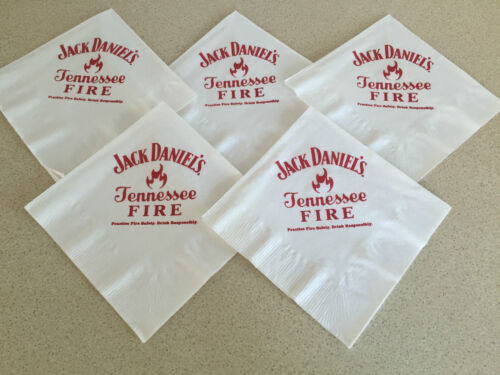 5 VERY RARE  JACK DANIEL/'S FIRE  PAPER TABLE KNAPKINS FROM THE USA