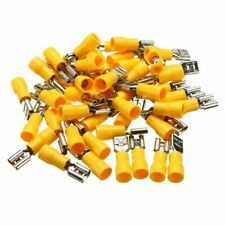 50x Heat Shrink Female Spade Wire Waterproof Connector Terminal 10-12AWG Yellow