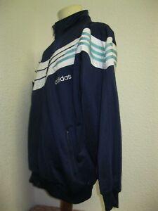 Détails sur Vintage 90' Ancienne VESTE ADIDAS BLEU BLANC F186 Jacket Survêtement Jogging