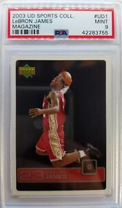 2003-Upper-Deck-Magazine-LeBron-James-Rookie-RC-UD1-Perforated-PSA-9-Only-3