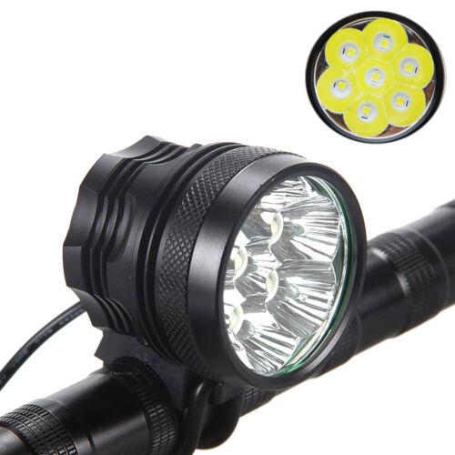 15000LM 7x XM-L R8 LED Head Front Fahrrad Fahrradlicht Licht 12000mAh Batterie
