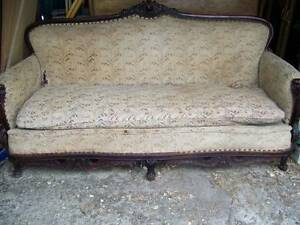 Antique Sofa Couch Hand Carved French