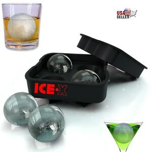 ICE-Balles-Maker-rond-Sphere-Plateau-moule-Cube-Whiskey-Balle-Cocktails-Silicone