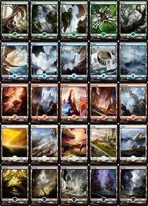 MTG-Battle-for-Zendikar-Complete-set-of-25-FULL-ART-Basic-Land-ALL-art