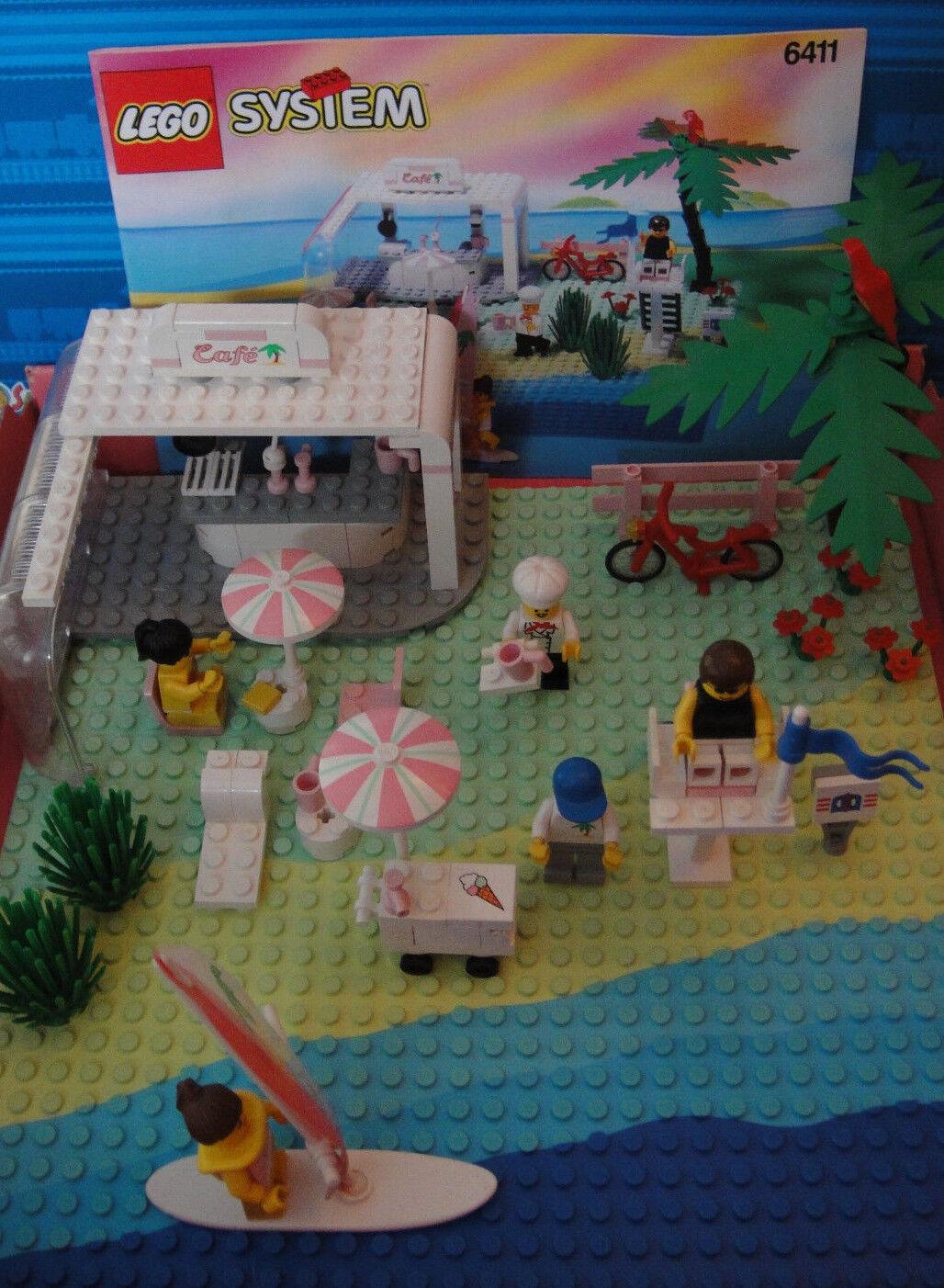 VINTAGE 90s LEGO Paradisa sistema BEACH BAR 6411 + BA