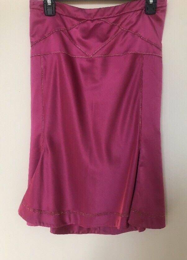 ROBERTO CAVALLI Pink Flared Hem Pencil Skirt IT 40 US 6