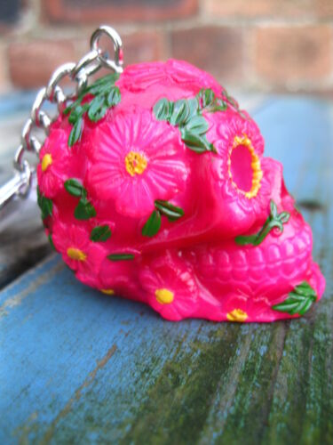 SUGAR SKULL KEYRING DAY OF THE DEAD Mexican SKULL Horror GOTHIC ZOMBIE KEY RING